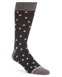 Bugatchi   Black Donegal Polka Dot Socks for Men   Lyst