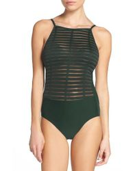 Miraclesuit | Green Back On Track One-piece Swimsuit | Lyst