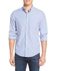 GANT   Blue 'banker' Extra Trim Fit Stripe Sport Shirt for Men   Lyst