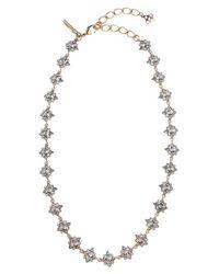 Oscar de la Renta | Black 'delicate Star' Swarovski Crystal Collar Necklace | Lyst