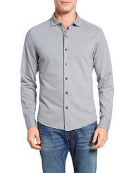 Thaddeus | Gray Shipley Slim Fit Pique Knit Sport Shirt for Men | Lyst