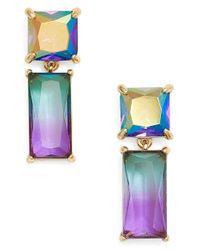 kate spade new york - Multicolor Baguette Crystal Drop Earrings - Lyst
