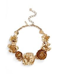 Oscar de la Renta | Metallic 'bold Flower' Necklace | Lyst