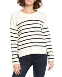 Obey - White Judith Rib Knit Stripe Sweater - Lyst