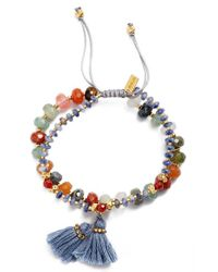 Chan Luu - Multicolor Semiprecious Stone Adjustable Bracelet - Lyst