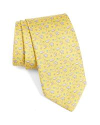 Ferragamo   Yellow Circus Animals Woven Silk Tie for Men   Lyst