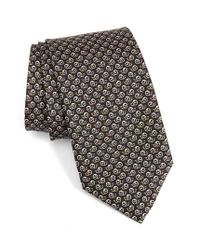Ferragamo | Green Abstract Snail Print Silk Tie for Men | Lyst