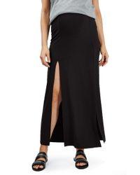 TOPSHOP | Black Split Maternity Maxi Skirt | Lyst