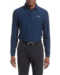 Under Armour   Gray Performance Fit Golf Shirt for Men   Lyst