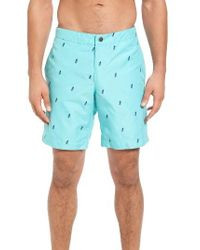 Boto - Blue Aruba Pineapple Print Tailored Fit 8.5 Inch Board Shorts for Men - Lyst