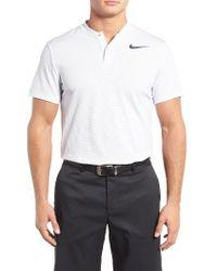 Nike | White Aeroreact Golf Polo for Men | Lyst