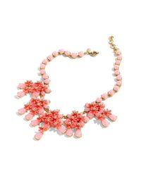 J.Crew - Red Floral Cascade Necklace - Lyst