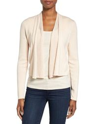 NIC+ZOE - White Simply Sweet Open Front Cardigan - Lyst