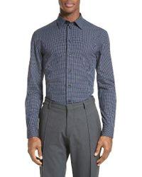 Armani | Blue Trim Fit Graph Print Sport Shirt for Men | Lyst