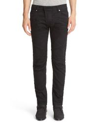 Balmain | Black Seven-pocket Moto Jeans for Men | Lyst