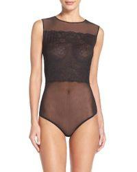 Wolford   Black Stretch Lace Bodysuit   Lyst