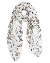 Hinge | Multicolor Kaleidoscope Bloom Lace Inset Scarf | Lyst