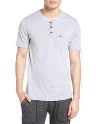Hurley | Gray Lagos 3.0 Dri-fit Henley T-shirt for Men | Lyst