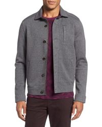 Ted Baker | Gray Collared Jersey Jacket for Men | Lyst