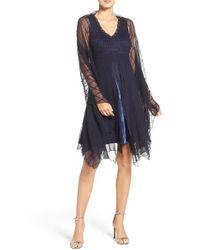 Komarov | Blue Embellished Chiffon Dress & Shawl (petite) | Lyst
