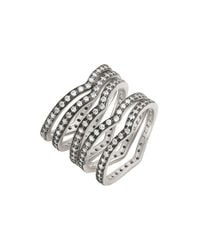 Freida Rothman | Metallic 'contemporary Deco' Stacking Rings (set Of 5) | Lyst