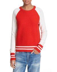 Rag & Bone - Red Jana Merino Wool Pullover - Lyst