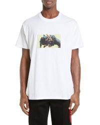 Givenchy - White Cuban Fit Rottweilers Graphic T-shirt for Men - Lyst