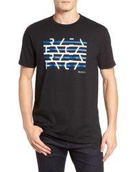 RVCA | Black Splice Graphic Crewneck T-shirt for Men | Lyst