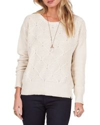 Volcom   White Chained Down Knit Crewneck Sweater   Lyst