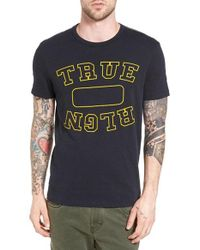 True Religion | Black Locker Graphic T-shirt for Men | Lyst