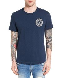 True Religion | Blue Buddha Embroidered T-shirt for Men | Lyst
