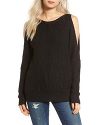 Glamorous | Black Cold Shoulder Sweater | Lyst