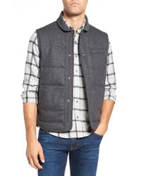 W.r.k.   Gray Pritchel Quilted Vest for Men   Lyst