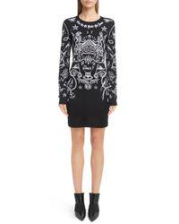 Givenchy | Black Tattoo Print Jersey Dress | Lyst