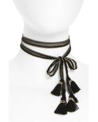 Chan Luu | Metallic Chiffon Tie Necklace | Lyst