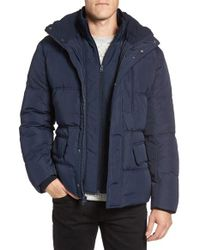 Marc New York   Blue By Andrew Marc Vinalhaven Quilted Down & Feather Fill Jacket for Men   Lyst