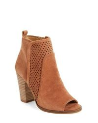 Lucky Brand | Brown Lakmeh Peep Toe Bootie | Lyst