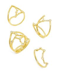 BaubleBar | Metallic Shay Mitchell - Guest Bartender Collection Intergalactic Set Of 4 Rings | Lyst