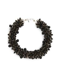 Panacea | Black Crystal Statement Necklace | Lyst