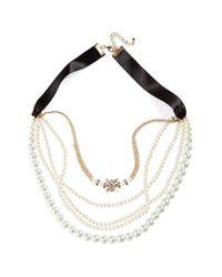Cara - Metallic Multistrand Necklace - Lyst
