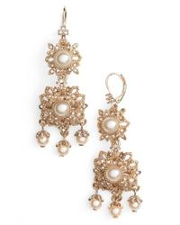 Marchesa - Metallic Chandelier Drop Earrings - Lyst
