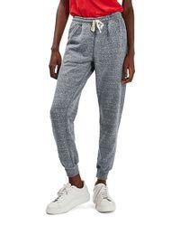 TOPSHOP | Gray Gem Neppy Jogger Pants | Lyst