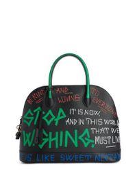 Balenciaga - Green Medium Graffiti Calfskin Leather Dome Satchel - Lyst