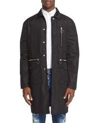 DSquared²   Black Military Nylon Trench Coat for Men   Lyst