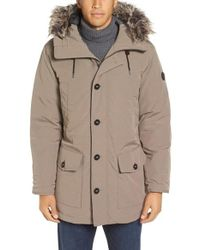 Michael Kors | Natural Faux Fur Trim Down & Feather Fill Snorkel Parka for Men | Lyst