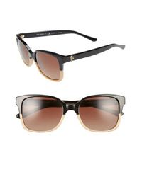 Tory Burch | Black 54mm Polarized Sunglasses | Lyst