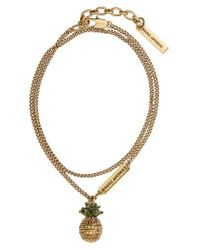 Marc By Marc Jacobs | Metallic Tropical Charm Necklace | Lyst