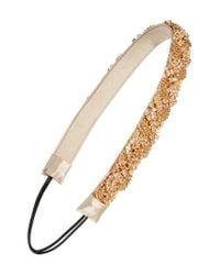 Tasha | White Crystal & Chain Head Wrap | Lyst