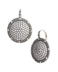 Freida Rothman | Metallic Contemporary Deco Pave Drop Earrings | Lyst
