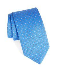Eton of Sweden | Blue Dot Silk Tie for Men | Lyst